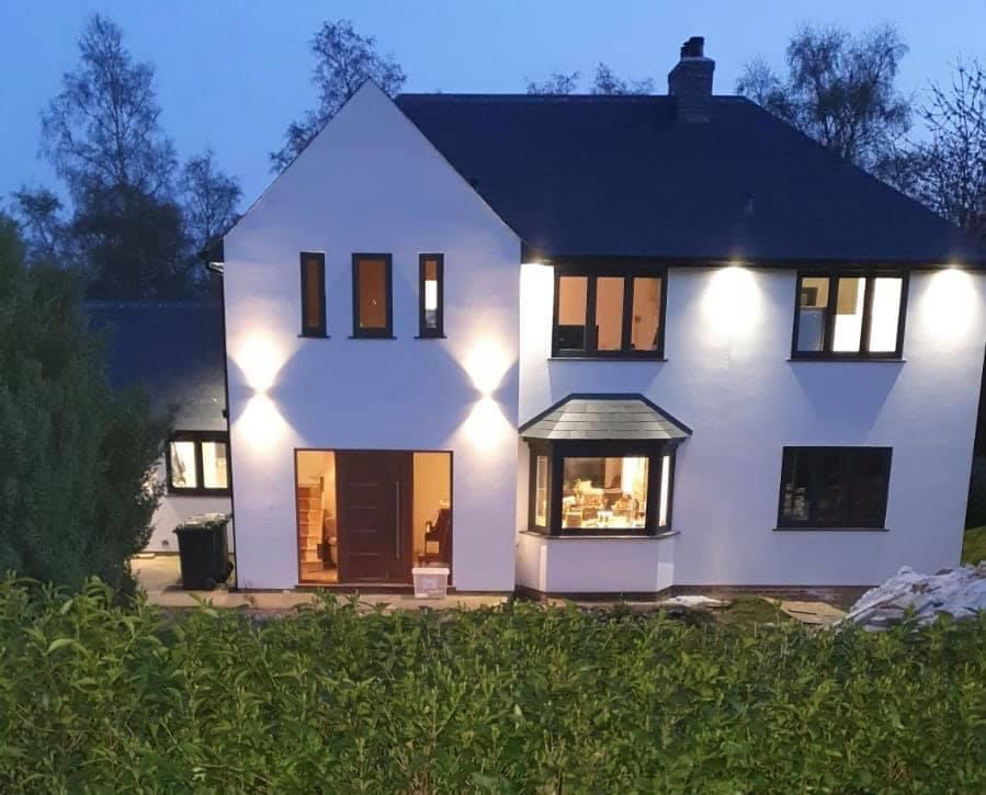 domestic electrical lighting outdoors
